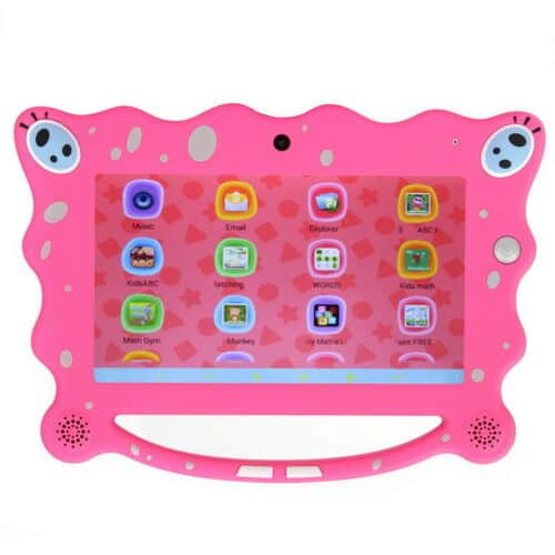 a cute pink protective rubber case