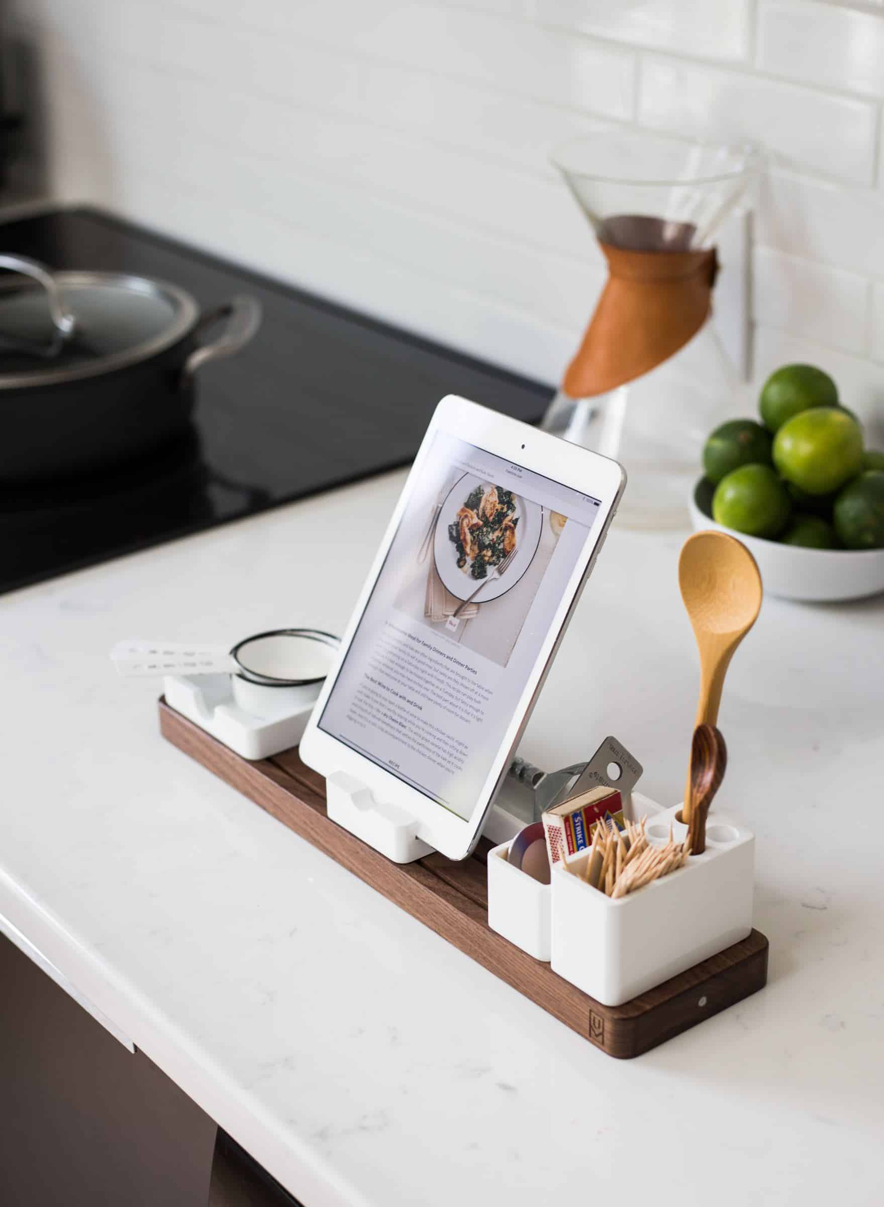 cooking recipe in a tablet