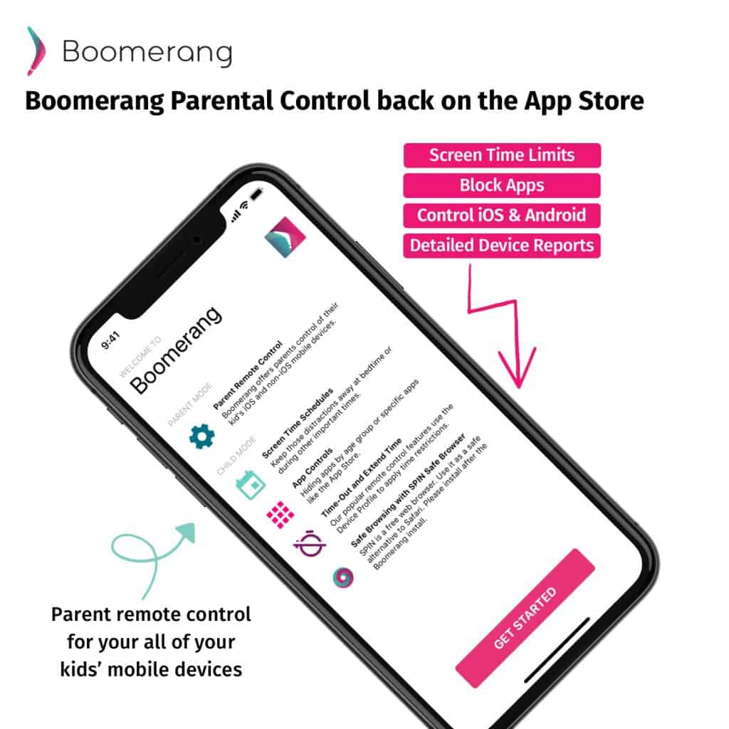 Boomerang Parental Control screen time app