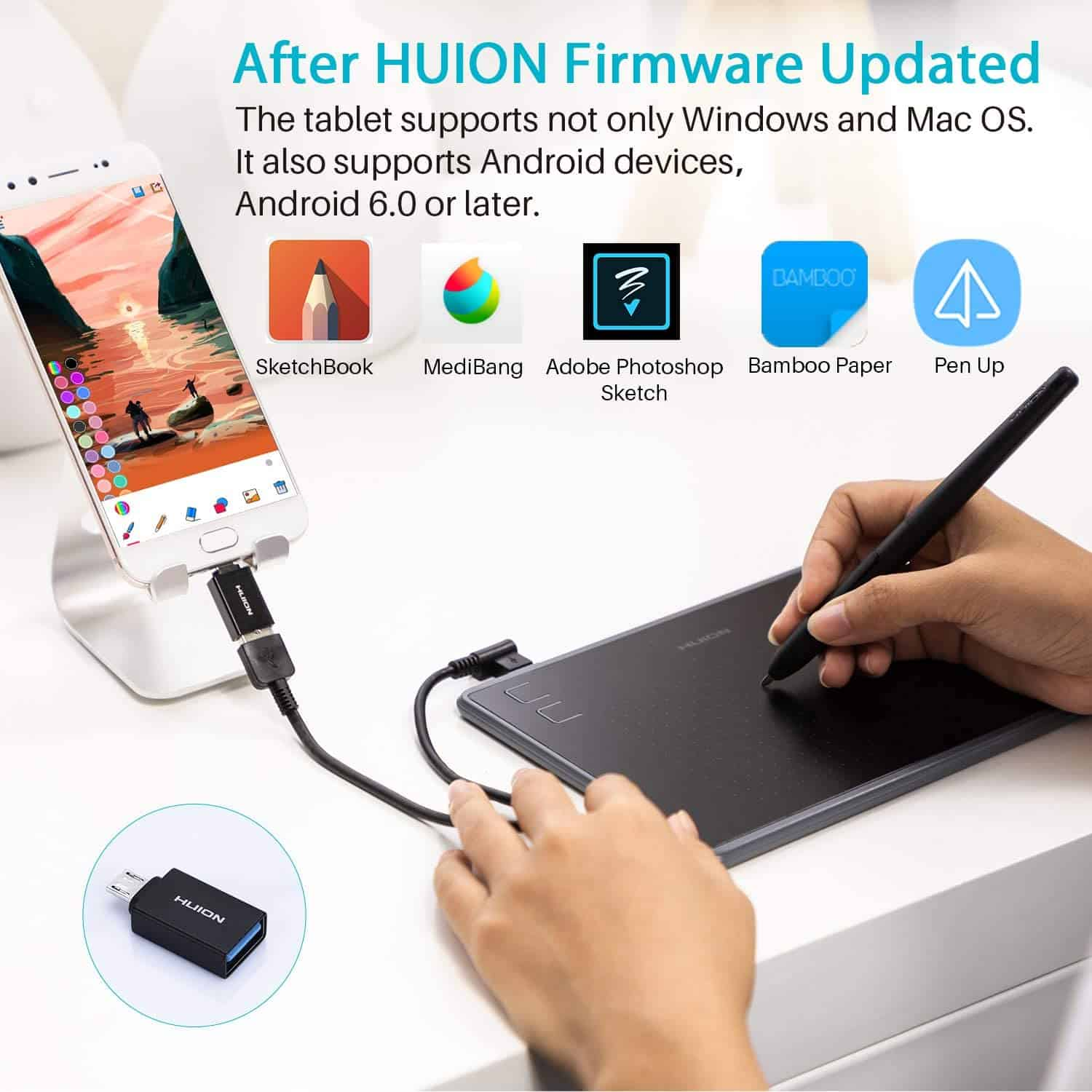 Best Cheap laptop drawing tablet: Huion Inspiroy H430P