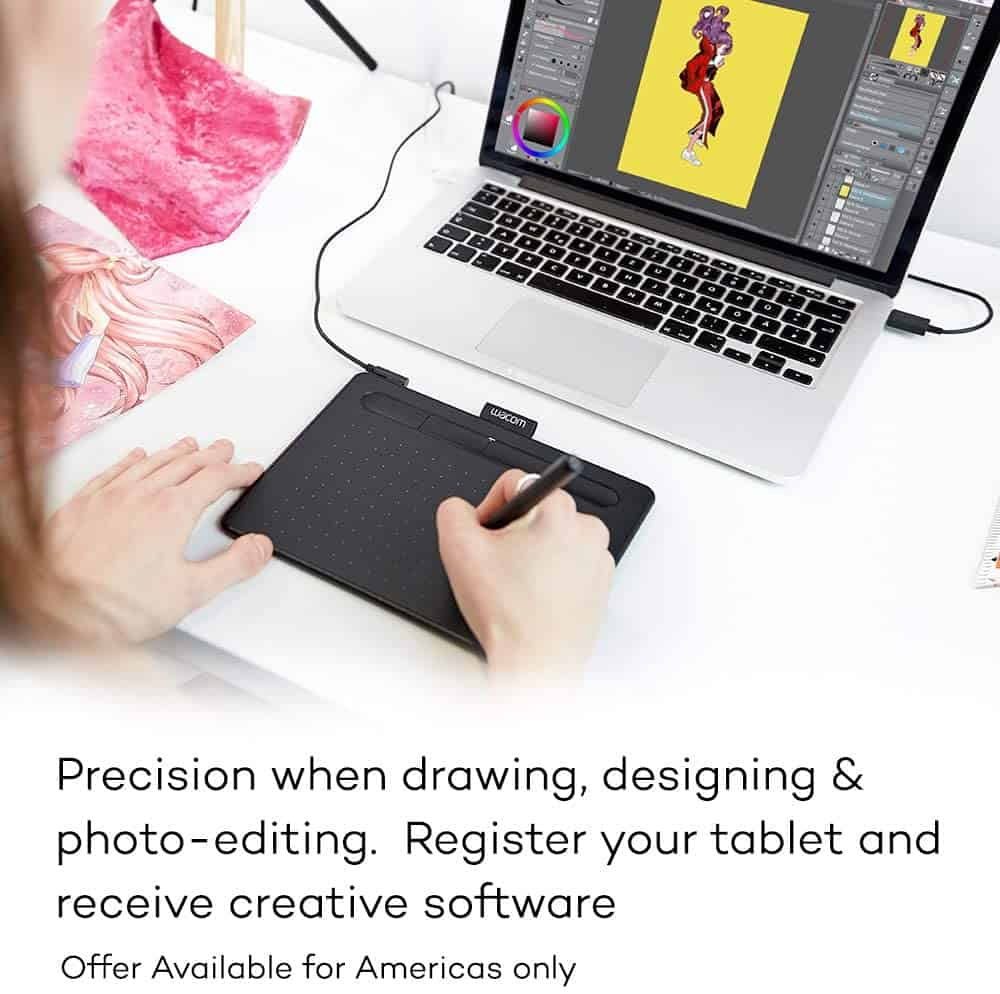 Best Graphics Tablet: Wacom CTL4100 Intuous Graphic Stylus